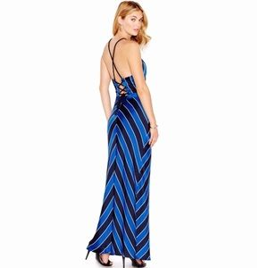 Guess Los Angeles Striped Maxi Dress